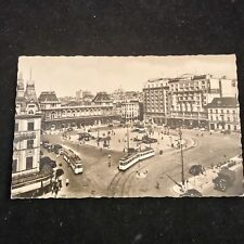 Vintage 1950's Brussells North Station Post Card Posted