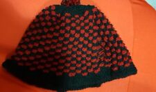 Tea Cosys Burgundy and black  New. Hand Knitted 2 sizes great for christmas