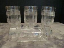 "Ralph Lauren Glen Plaid 4 Mint Highball Tumblers Glasses 14 Oz 6 1/4"" Tall"
