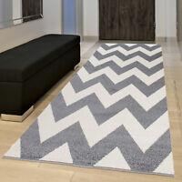 Modern Cheap Hallway Runner Rugs XLarge Small Zig Zag Pattern High Quality Rug