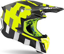 CASCO HELMET MOTO CROSS ENDURO AIROH TWIST 2.0 FRAME ANTHRACITE GIALLO FLUO TG S