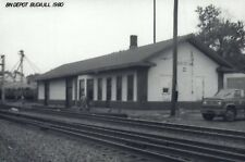 Buda, Illinois 1980 B N Railroad Depot Train Station RPPC NOT Repro