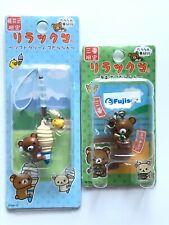 Rilakkuma Kiiroitori Charm Strap Clip Hook Set AOSA / SOFT CREAM San-X Japan
