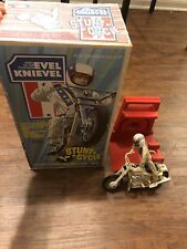 Evel Knievel Stunt Cycle Bike Launcher & Box Evil Action Figure 70s Rare!