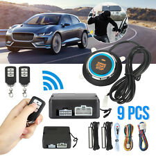 Q6A Keyless Entry Car Alarm Security System Push Start Button Remote Controls