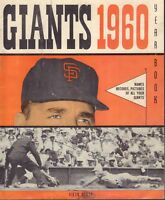 San Francisco Giants 1960 Yearbook Vintage Original 121317DBE