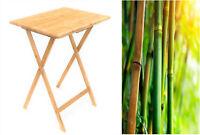 Folding Bamboo Bedside Table Foldable TV Table Tray Desk Reading Portable Tea OZ