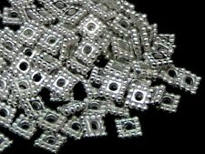100 x Silver Plated  5mm Bali Spacer Beads Jewellery Craft Findings U108
