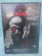 12 MONKEYS,TERRY GILLIAM,BRUCE WILLIS BRAD PITT MADELEINE STONE DVD M R4