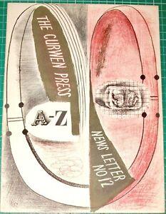 CURWEN PRESS NEWS LETTER 12 -1936 GRAHAM SUTHERLAND, RAVILIOUS, BAWDEN, WARDE