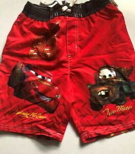 NWT New BOYS DISNEY PIXAR CARS SWIN SHORT SMALL MATER LIGHTING MCQUEEN