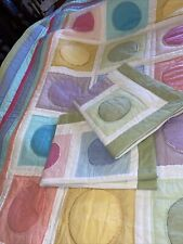 American Pacific Patchwork Quilt Queen Multi Color Matching Shams Brand New