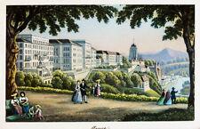 c1870 Schweiz Bern Berne Berna Kolorierte Aquatinta-Ansicht Dikenmann