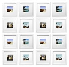 Smartphone Frames Collection,Set of 16, 8x8-inch Square Photo Wood Frames, White