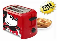 Kitchen Electric Bread Toaster Disney Mickey Mouse Kids 2 Slice Ovens Black Red