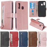 Zipper Wallet Leather Flip Case Cover For Samsung S20 S10 S9 S8 Plus A51 A50 A10