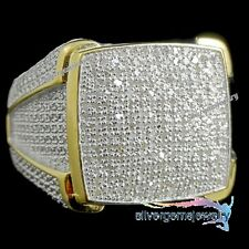 10K Yellow Gold 2.00 CT Men's Diamond Engagement Wedding Pinky Ring Band 7-14