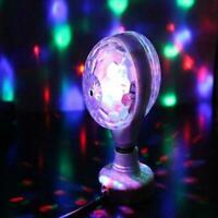 3W E27 RGB Double Head Rotating Magic Ball LED Stage DJ Club Bulb Light J0Y1