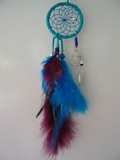 NEW BEAUTIFUL DREAMCATCHER FIRST NATIONS OJIBWAY MAGIC TURQUOISE WITH CRYSTAL 2""