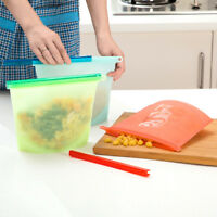 New Food Plastic Silicone Refrigerator Wrap Storage Reusable Preservation Bag