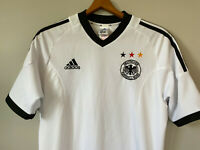 Germany Adidas Retro Football Shirt Home 2002/03 Soccer Jersey Youth XL White
