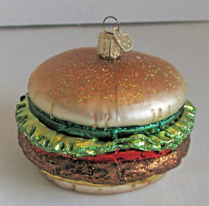 Hamburger OWC Old World Christmas Ornament