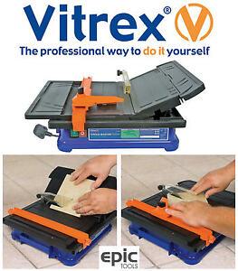 Vitrex Torque-Master Electric Diamond Wet Tile Bench Saw Cutter & Blade, 103402