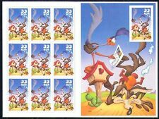 USA**Road Runner Looney Tunes & Coyote-SHEET 10 stamps-CARTOONS-2000-MNH