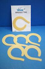 Wiggle Tail large 6 St. BEIGE Feine Gummi Tails SUPERBEWEGLICH & günstig 4,99 €