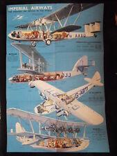 Impérial Airways Affiche-Brochure   années 30 Authentique  Illustrateur Severin