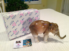NEW IN BOX Vintage ROYAL DUX BOHEMIA 672/3 Porcelain ELEPHANT FIGURINE Trunk-Up