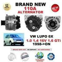 FOR VW LUPO 6X 1.0 1.4 16V 1.6 GTi 1998-ON NEW 110A ALTERNATOR EO QUALITY