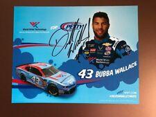 BUBBA WALLACE 2018 AUTOGRAPHED #43 WWT, NASCAR POSTCARD, EX-MT