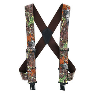 New Perry Suspenders Men's Camouflage Print Undergarment Trucker Suspenders