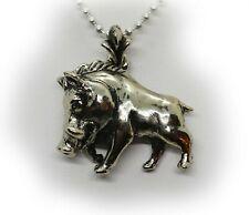 Sterling Silver Warthog Pendant