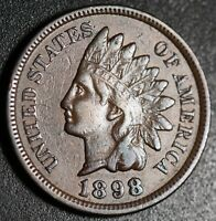 1898 INDIAN HEAD CENT - With LIBERTY & DIAMONDS - XF EF
