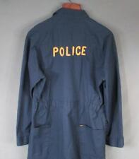 Vintage 1960s Police Work Coveralls Blue Lee Union-Alls Workwear Burlington,NJ