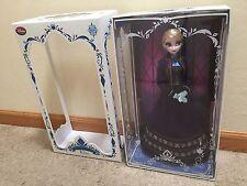 "Disney Limited Edition of 5000 Frozen Regal Elsa Purple Dress 17"" Doll 2015"