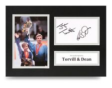 Torvill & Dean Signed A4 Photo Display Ice Skating Autograph Memorabilia + COA