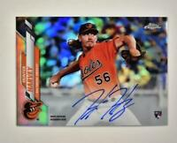 2020 Topps Chrome Rookie Refractor Auto #RA-HH Hunter Harvey RC /499