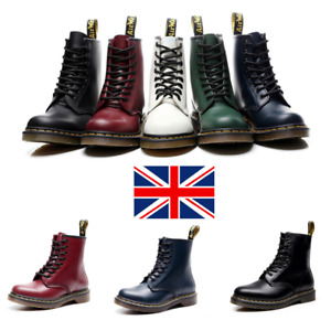UK Unisex Leather Fashion Boots Shoes Soft NAPPA 146C Dr Martens 8 Lace Up HOT