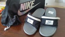 SOLD OUT Nike Benassi JDI Fanny Pack Slide Black Cool Grey & White UK8