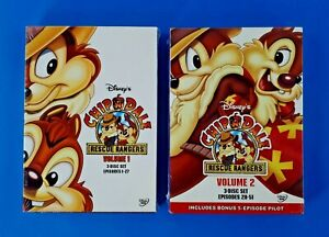 Disney DVD Chip n Dales Rescue Rangers Vol.1 & Vol.2 Episode 1 to 51 New Sealed