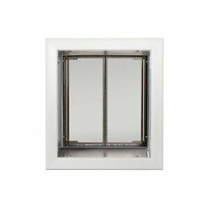 PlexiDor Performance Pet Doors Medium Wall Mount in White