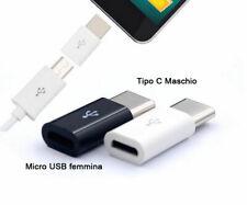 Adattatore adapter da Micro usb femmina a Tipo Type C Maschio connettore Huawei