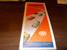 1957 AAA Northeastern States Vintage Road Map