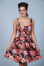 "Beach Bash ""Floratina Black"" Dress (3X, Bettie Page) *PLUS SIZE PIN UP*"