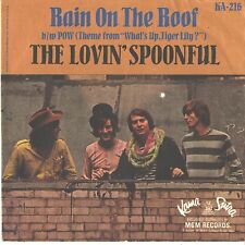 LOVIN' SPOONFUL--PICTURE SLEEVE + 45--(RAIN ON THE ROOF)--PS--PIC--SLV