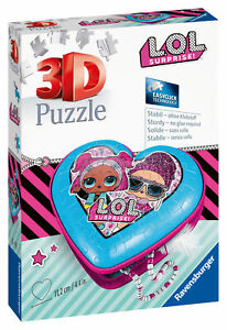 11233 Ravensburger LOL Surprise Heart Shaped 3D Jigsaw Puzzle 54pc Age 8 Years+