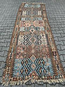 Antiker Kelim aus der Türkei ,sehr schöne Farben                ca, 315 x 115 cm